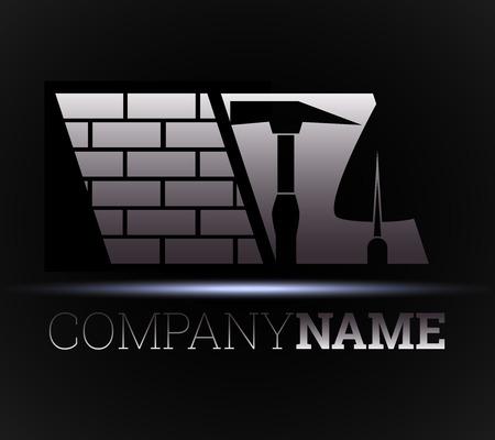 logotipo de construccion: construcción de casas y edificios, el diseño para las empresas Vectores