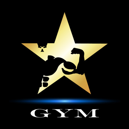 design symbol for gym and fitness, vector