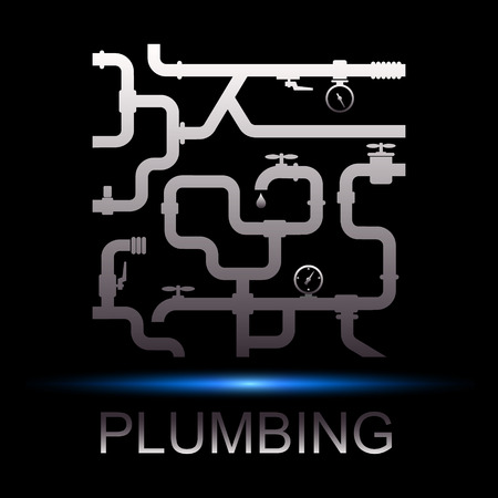 plumbing supply: Symbol repair plumbing and water supply for business