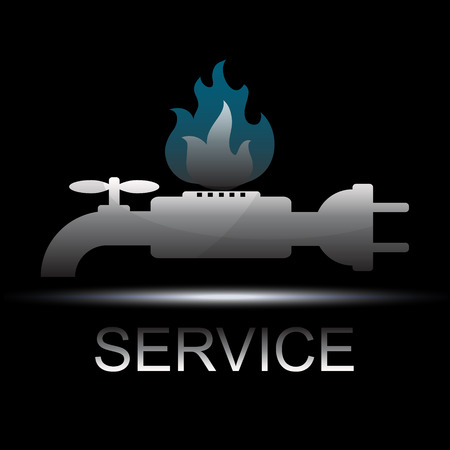 Symbol service to business, plumbing, electricity and gas