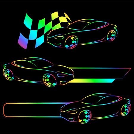 Design for auto business, for vector Vettoriali