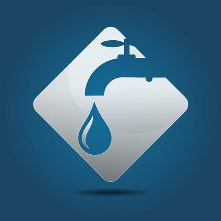 plumbing repair: Symbol for a plumbing business, vector