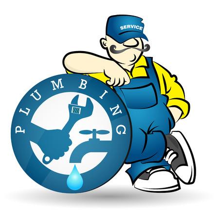 breakdown: Plumber image for business, sanitary technician
