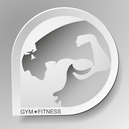 exercise machine: Gym and fitness symbol for business, vector
