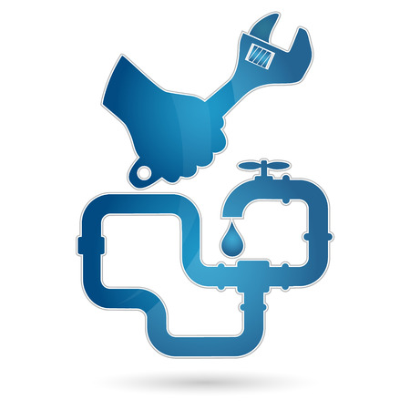 repair plumbing design for business Ilustrace