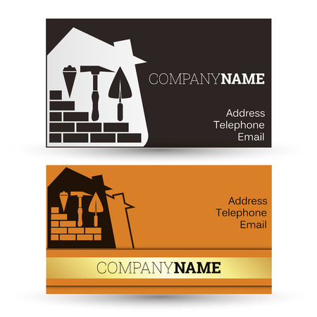 business cards: Construction and sale of homes, business card business