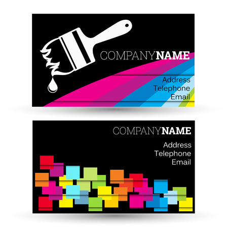 Business card business painting and painter houses Ilustrace