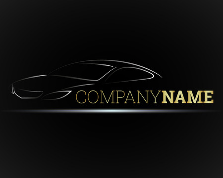 transportation silhouette: Image of a car for business, vector