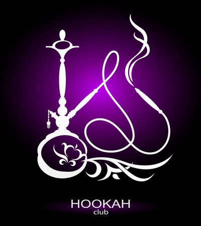 Hookah vector image for cafe and a hookah pipe