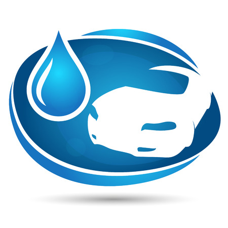 wash car: Car wash symbol for business Illustration