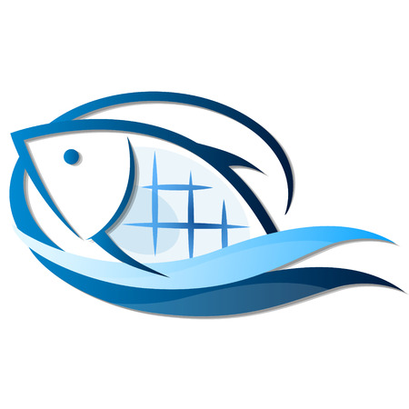 fisheries: Fish on waves of symbols for the business