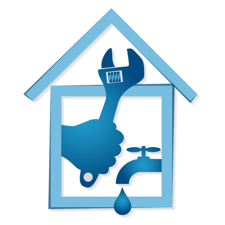 tuberias de agua: La reparaci�n de las tuber�as de agua y redes de alcantarillado casa vector