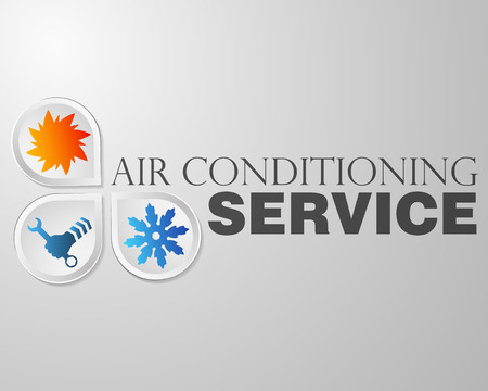 hands in the air: Symbol air conditioning repair business