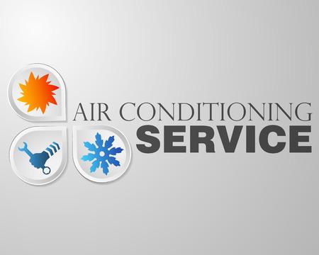 Symbool van airconditioning reparatie bedrijf