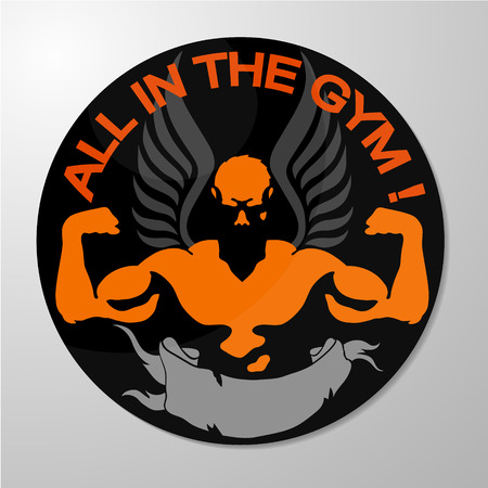 sport body: Symbol for training in the gym and fitness vector Illustration