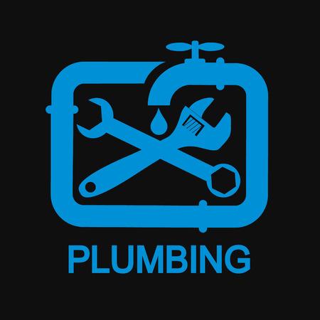 plumber tools: Repair plumbing and sanitary ware symbol for Business