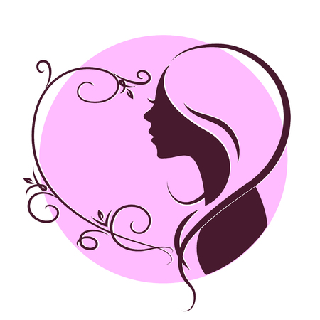 beauty girls: Silhouette girls for beauty and hair salon