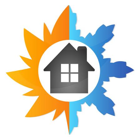 Airconditioning thuis, het symbool van het bedrijfsleven