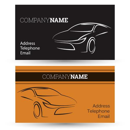 car business: Car business card for business, vector Illustration