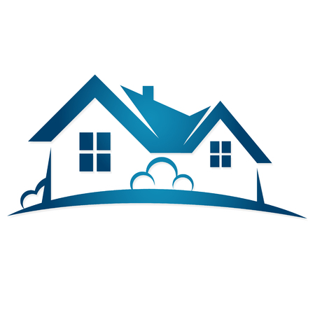 HOUSES: Real estate sale symbol vector