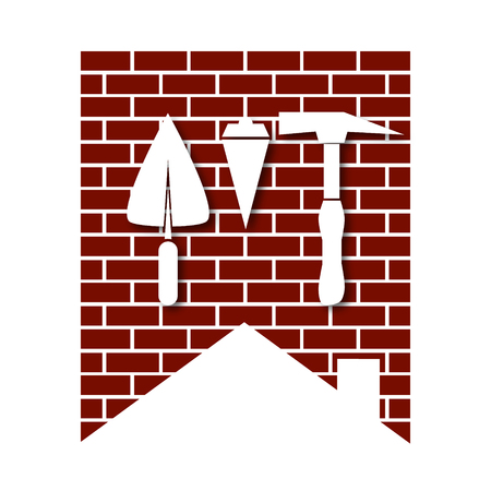 business symbol: House construction symbol for business, vector
