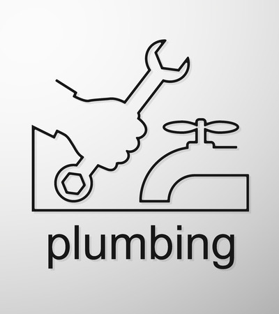 plumbing repair: Plumbing symbol of service to the business, vector Illustration