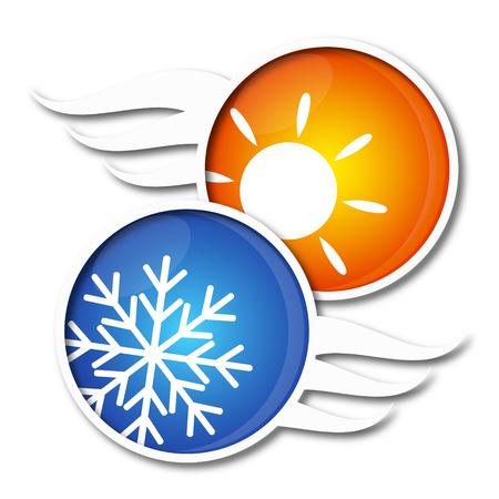 resfriado: Aire acondicionado s�mbolo para los negocios, vector
