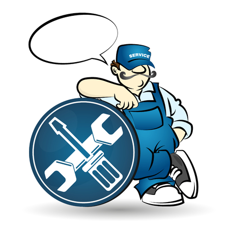 Repairman illustration for business