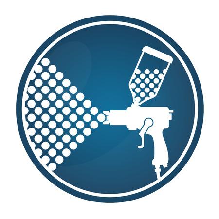 pulverizador: pistola de silueta color de la pintura de aerosol Vectores