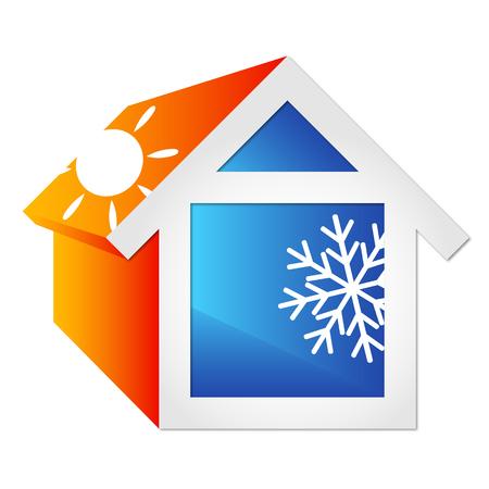 Airconditioning voor het huis, symbool van het bedrijfsleven