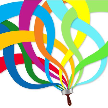 brocha de pintura: la abstracción de colores de la brocha Vectores