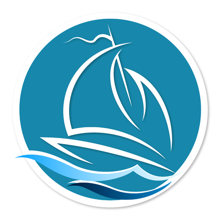 vessel: Sailing vessel on the waves icon