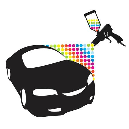 Verstuiver voor het schilderen auto Stock Illustratie