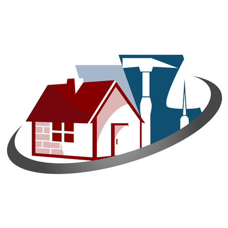 business symbol: Construction of houses for business symbol