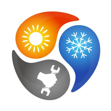 llave de sol: Reparación de aire acondicionado, muestra para los negocios