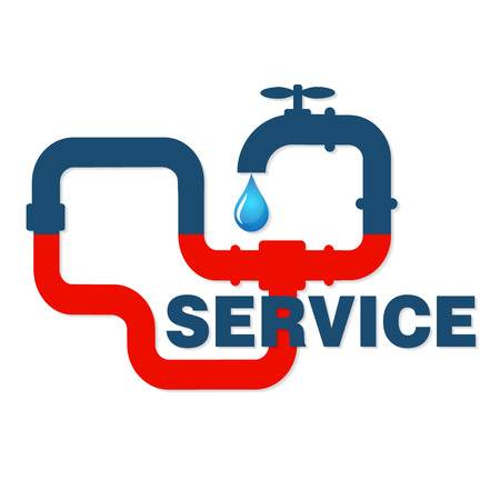 business equipment: Repair plumbing and sanitary equipment, a sign for business