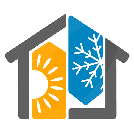 home design: Air conditioning design for home business Illustration