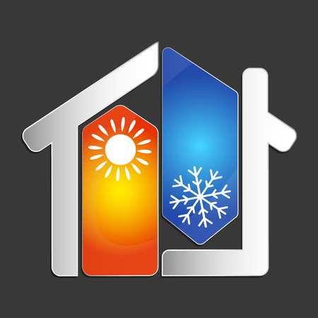 Air conditioning at home for business vector Illustration