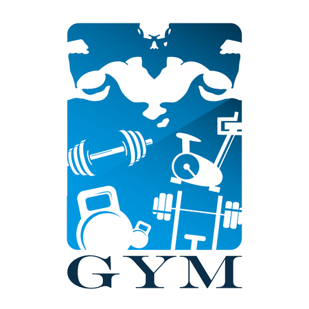 fit body: Gym and fitness flat design vector Illustration
