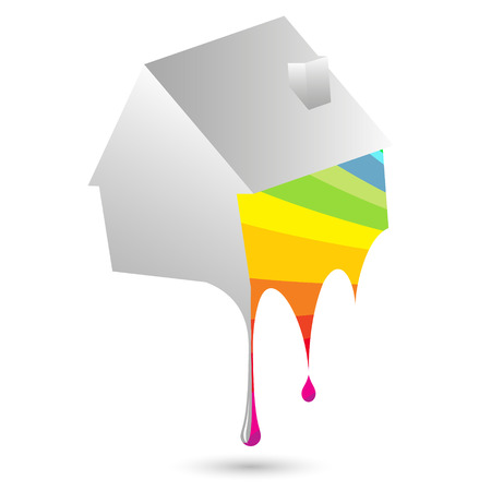 home painting: Painting home symbol for a vector