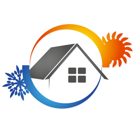 Airconditioning House voor het bedrijfsleven vector Stock Illustratie