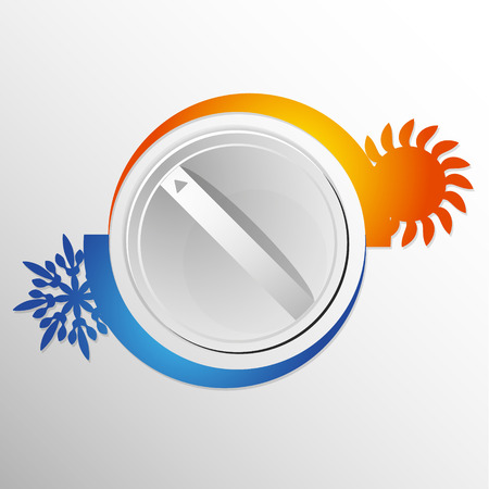 Air conditioning switch vector illustration Illustration