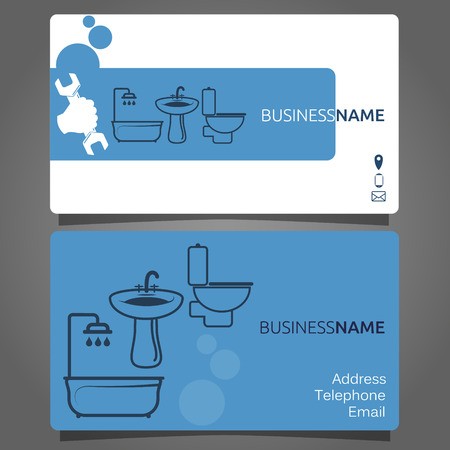service card: Business card for plumbing services business