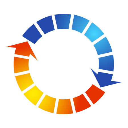 Airconditioning ontwerp pijl symbool Stock Illustratie