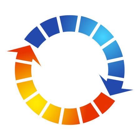 Air conditioning design arrow symbol