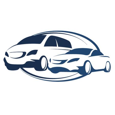 Samochód wypożyczyć wektor symbol dla biznesu