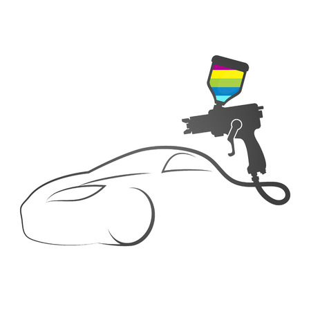 Farbspritzpistole Auto-Design-Symbol