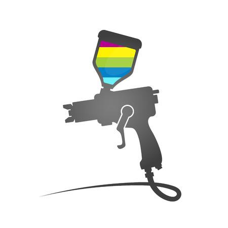 paint gun: Paint spray gun symbol vector Business