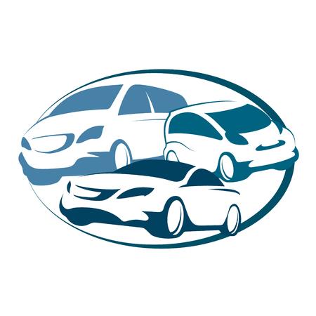 ビジネスのための自動レンタル サイン  イラスト・ベクター素材