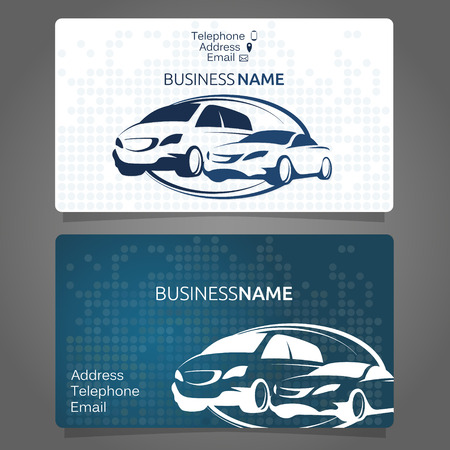 会社の車レンタル ビジネス カード  イラスト・ベクター素材